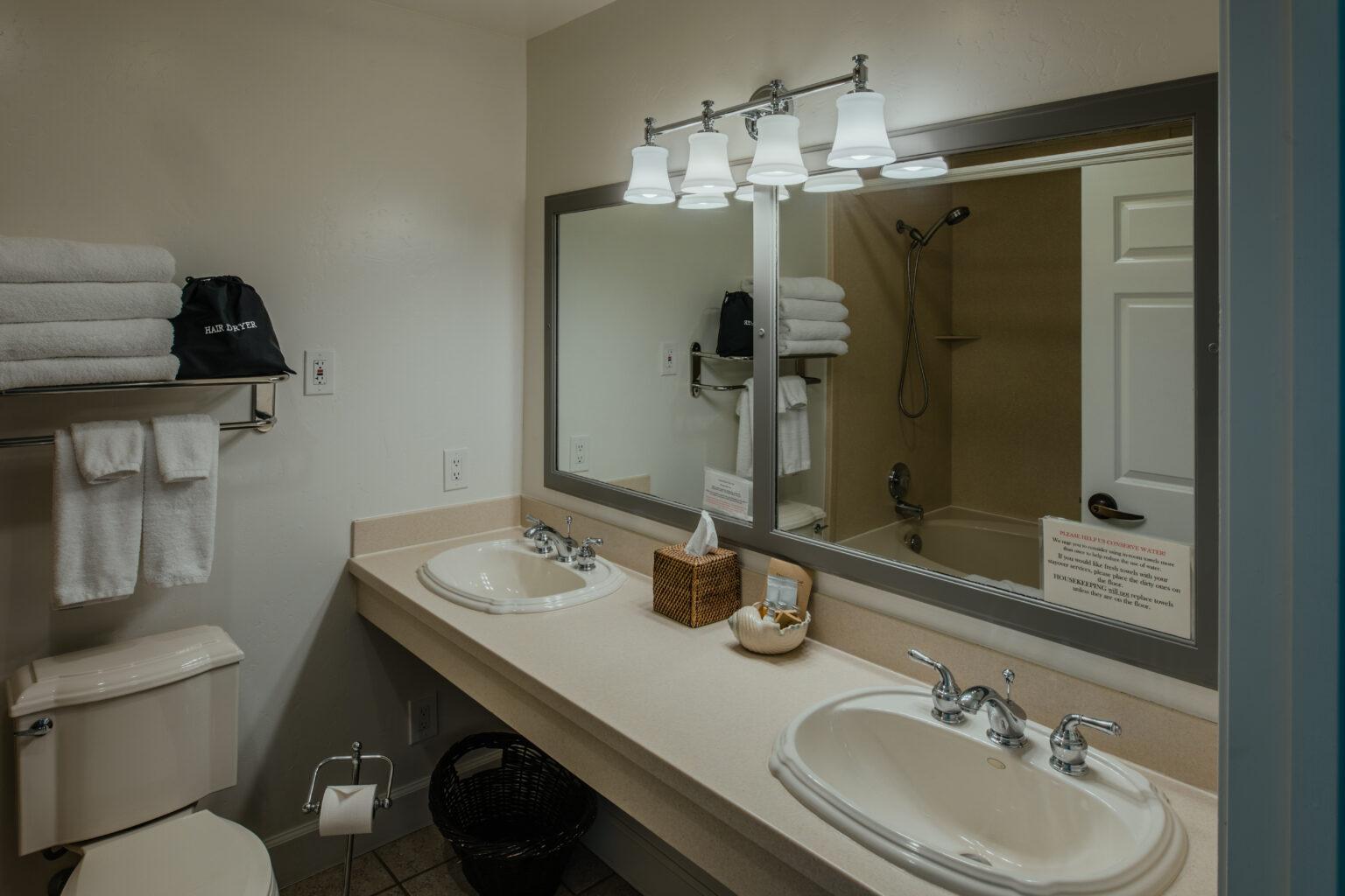 Room 201 Bathroom view