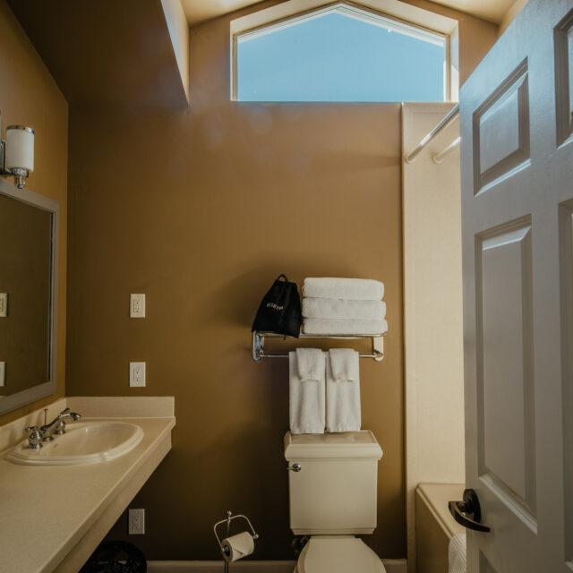 Room 204 Bathroom view