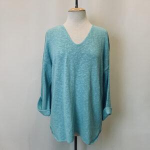 fav sweater aqua