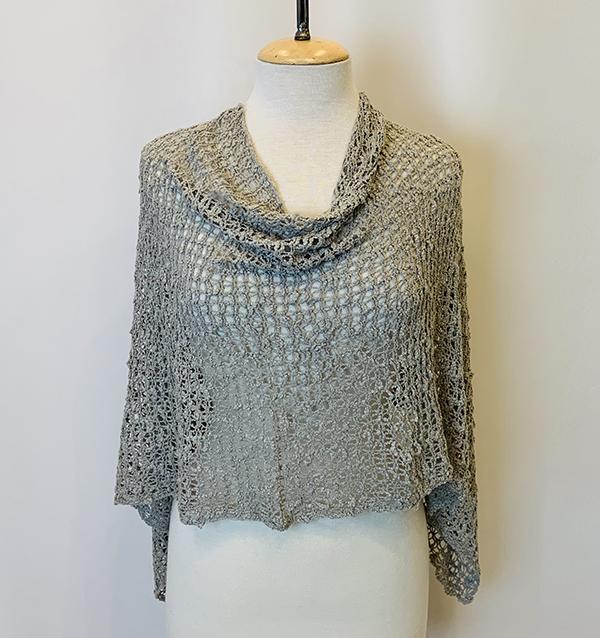 crochet poncho grey