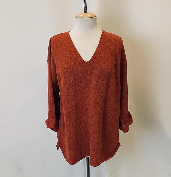 fav sweater terracotta