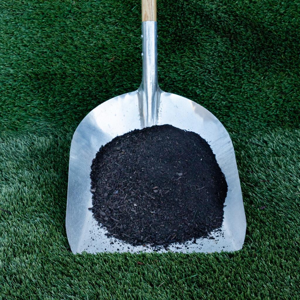 Compost in shovel